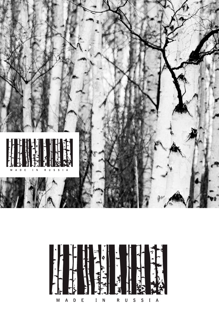 Made In Russia Barcode Logo