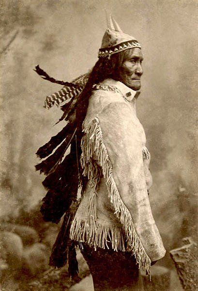 Geronimo was born of the Bedonkohe Apache tribe in No-doyohn Canon, Arizona, June, 1829, near present day Clifton, Arizona. The fourth in a family of four boys and four girls, he was called Goyathlay (One Who Yawns.) In 1846, when he was seventeen, he was admitted to the Council of the Warriors, which allowed him to marry. Soon, he received permission; married a woman named Alope, and the couple had three children.