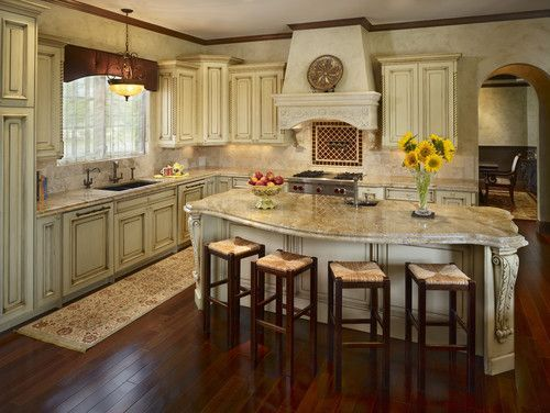 U-shaped+kitchens+with+island | Shaped Kitchen With Island Design, Pictures, Remodel, Decor and ...