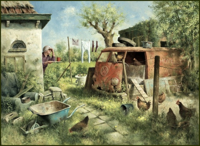 Marius van Dokkum, Dutch Artist and Illustrator ~ Blog of an Art Admirer