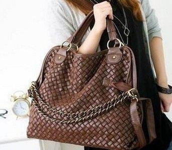 Mulheres moda bolsas de alta qualidade projetistas coreano GRID tecelagem sacos de ombro para mulher PU bolsa de couro