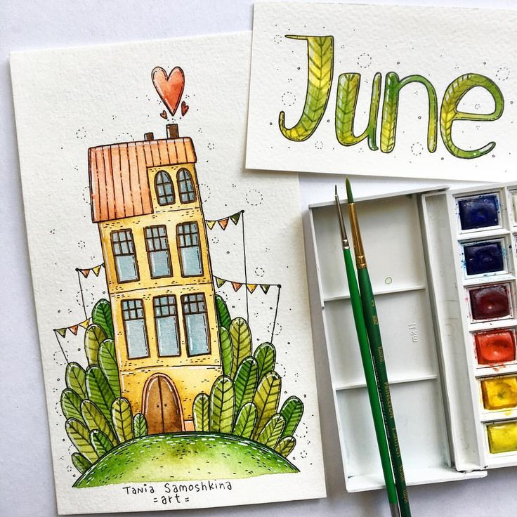 "3,148 Likes, 17 Comments - ◽️Tania Samoshkina◽️ (@samoshkina_art) on Instagram: ""traditional house illustration for each month. Welcome to June"""