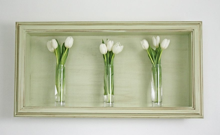 Shadow box for above the bed.
