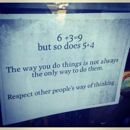 respect other people΄s way of thinking