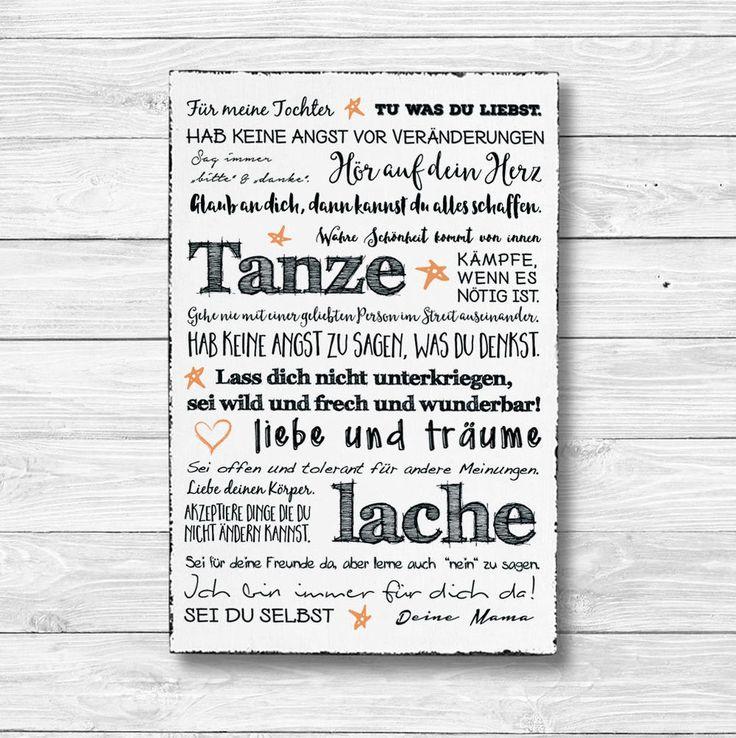 Holz Deko Schild Wandschild Shabby Vintage Bild Geschenk TOCHTER 20 x 30 cm   Möbel & Wohnen, Dekoration, Schilder & Tafeln   eBay!