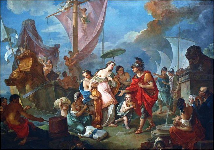 Story of Mark Antony - Cleopatra arriving in Tarsus (Kleopatřino vylodění v Tarsu)