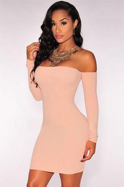 Off-The-Shoulder Long Sleeves Dress