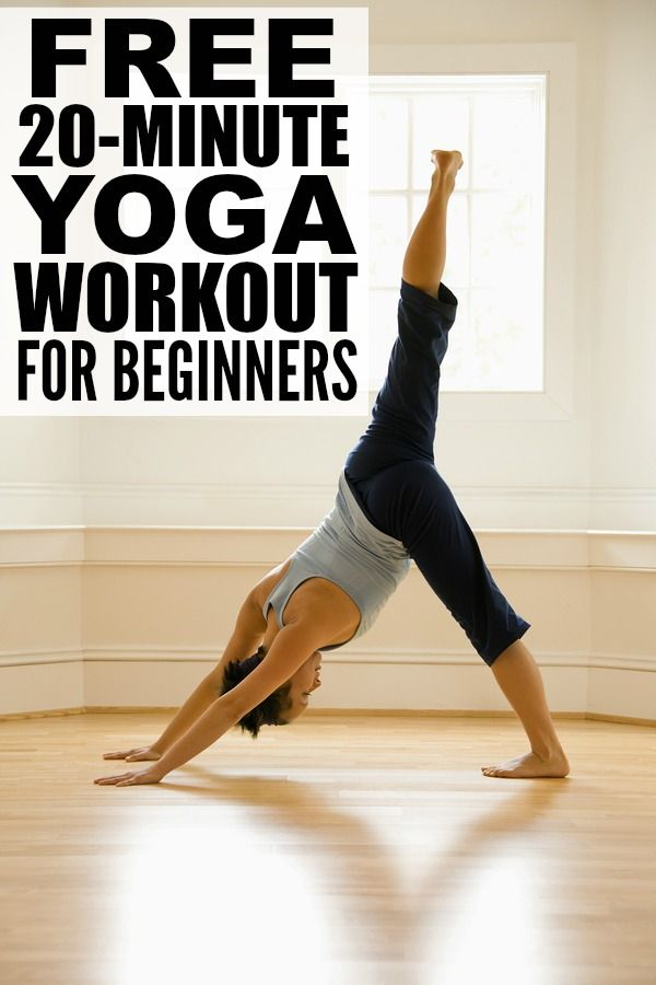 If you're looking for a way to build your core body strength and posture while also reducing your stress levels, but don't know the first thing about yoga, relaxation, or meditation, this 20-minute yoga workout for beginners if a FABULOUS place to start! #yoga