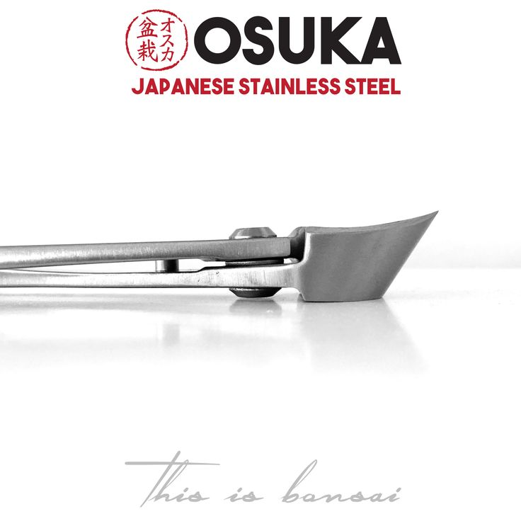 • OSUKA Bonsai Branch Cutters (Bonsai Concave Cutters)  • Length – 210mm  • Finish – Silver  • Material – High Quality Japanese Stainless Steel