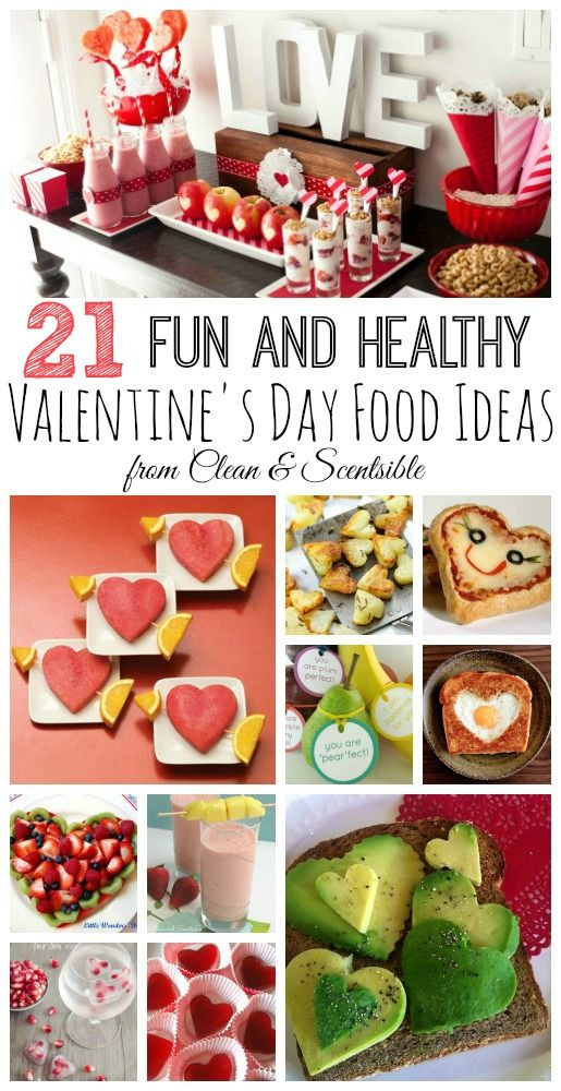 Lots of fun and healthy Valentine's Day food ideas! via @Jenn L Milsaps L @ Clean and Scentsible
