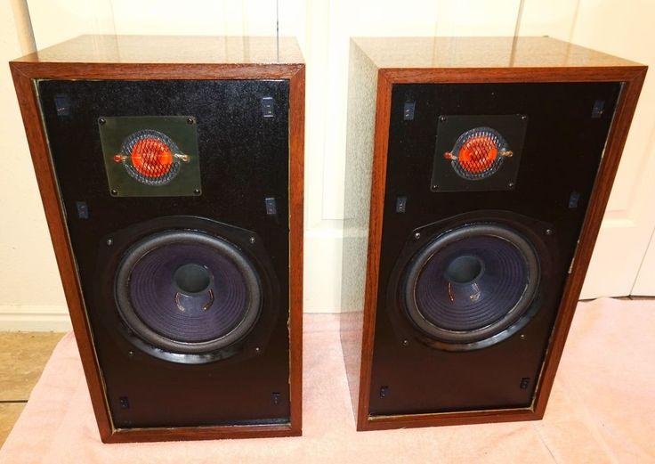 Vintage Large Advent Floor Standing Hi Fi Speakers Wow