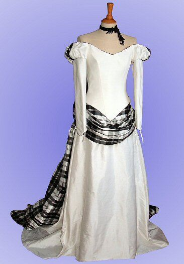 Colored wedding dresses scotland