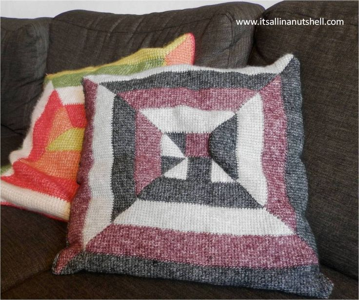In the summer of 2015, this sounds soooo long ago, I started working on two Tunisian Crochet Ten Stitch projects designed by Dedri Uys. Dedri has the design for a full size afgan, but I made two cu…