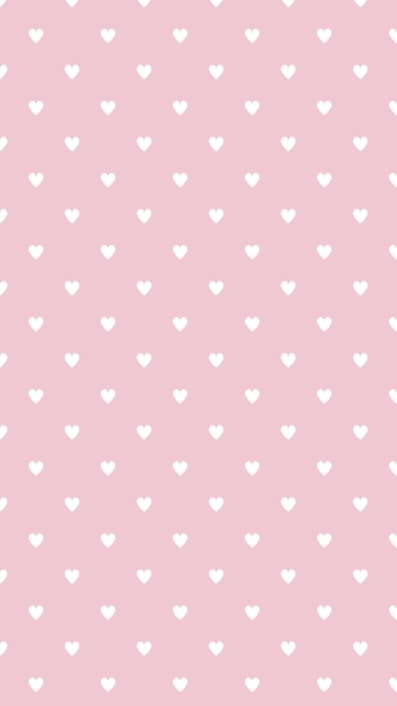Pink white mini hearts iphone phone wallpaper background lock screen
