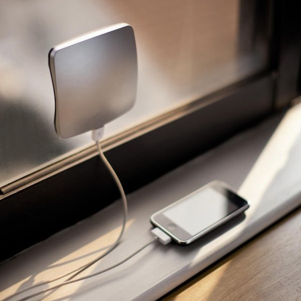 The Window Cling Solar Charger is a fantastic little gadget that attaches to any window and collects solar power, which can then be used to charge your electronics. The 1,300 mAh rechargeable lithium battery holds enough output to charge smartphones like the iPhone, Blackberry and Android based phones.