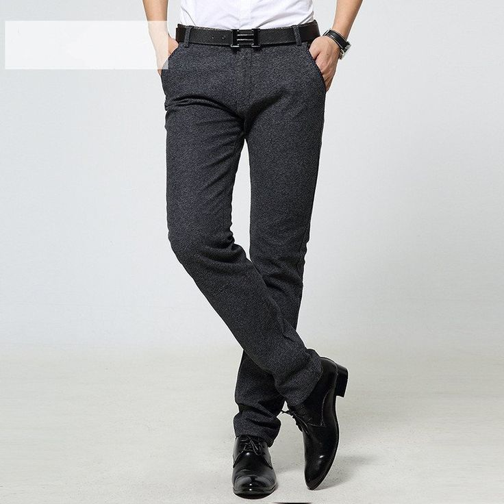 new arrival Fashion Casual men Pants Slim Fit Suit Pants Casual Pants business cotton pants