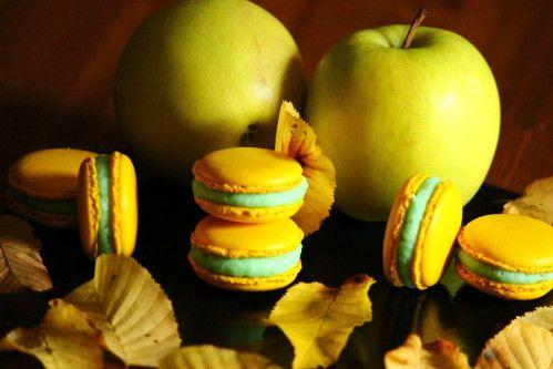 macaron pomme caramel