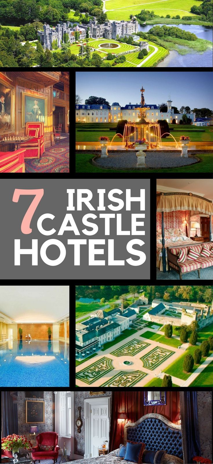 7 family-friendly luxury castle hotels of Ireland will provide a fairy tale Ireland vacation.