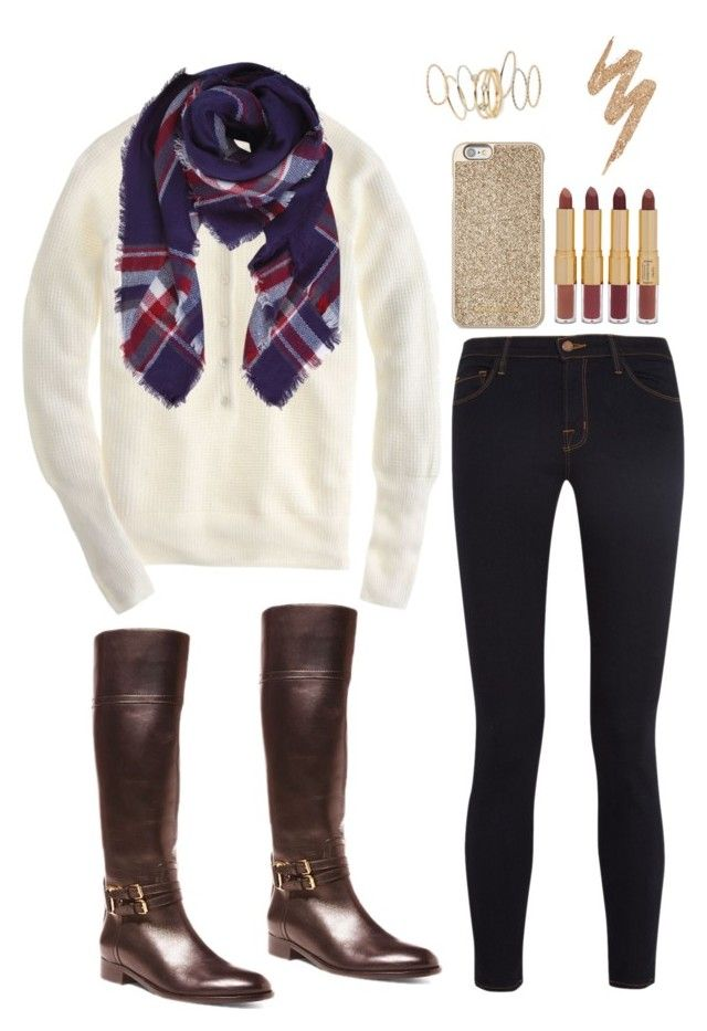 Ootd by southern-mom on Polyvore featuring polyvore, fashion, style, J.Crew, J Brand, Ralph Lauren, BP., Humble Chic, Michael Kors, tarte, Urban Decay and clothing