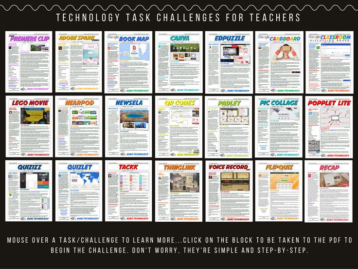 21 Technology Task Challenges for iPad!  ;)