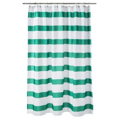 Room Essentials Rugby Stripe Shower Curtain Green Christmas Curtains Tablecloth New House