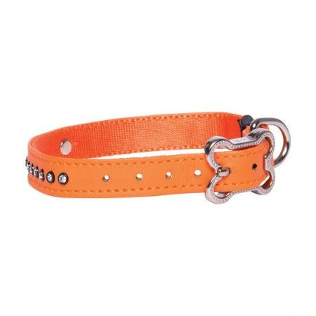 Rogz Lapz Luna Dog collar Orange - Medium