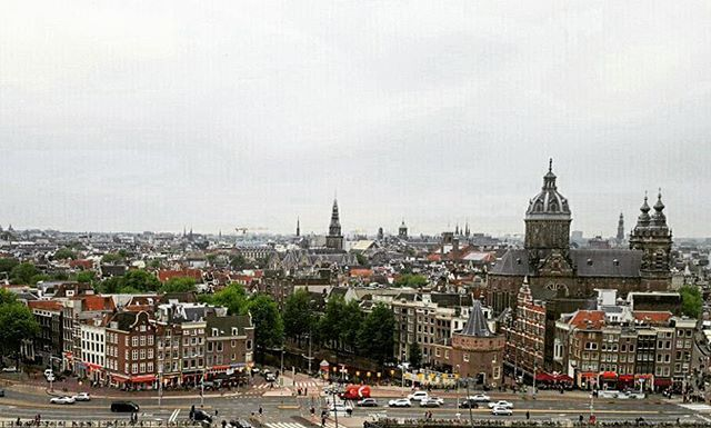 SkyLounge Amsterdam... Sitting on the rooftop terrace sipping our Lillet Blanc Fizz Cocktails!!!