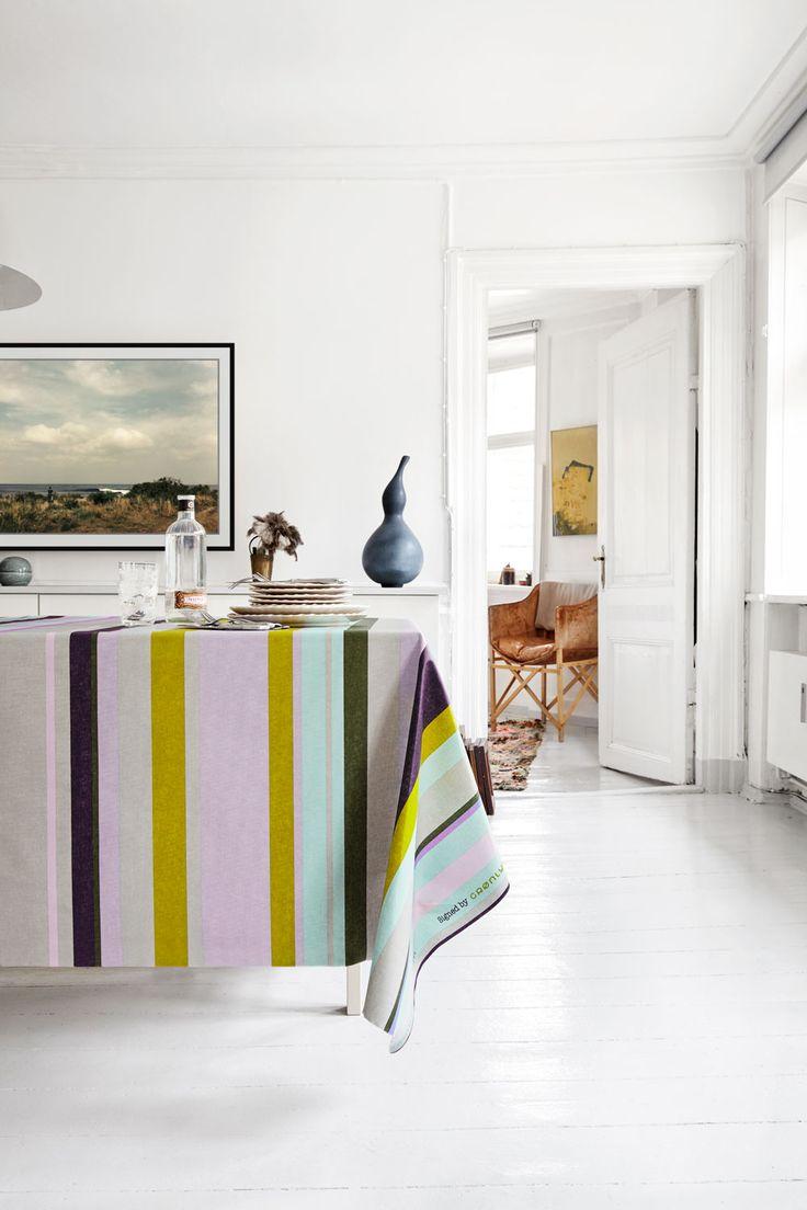 Almost Linen Oilcloth Linen Earthenware Stripes. Buy online.