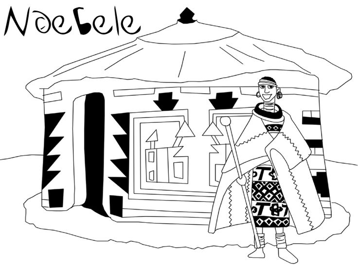 Ndebele Colouring In Pages Google Search Coloring