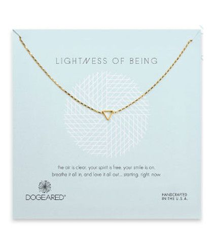 Dogeared Lightness of Being Teeny Air Triangle Soldered Necklace $52-58 – Blue Daisy