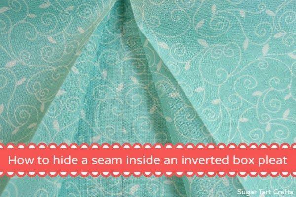 Como esconder uma costura no interior de uma caixa plissado invertido.