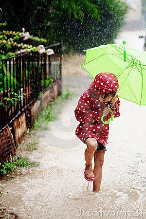 rain and a mud puddle. gotta love it.