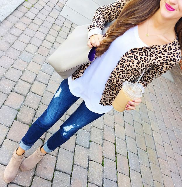 Leopard Blazer Fall Inspo by Southern Curls and pearls