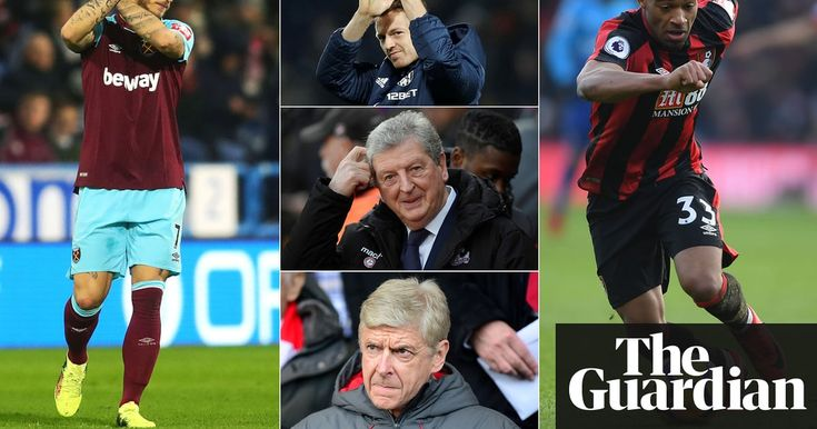 Premier League: 10 talking points from the weekend's action  ||  Arsenal have hit an all-time low under Arsène Wenger, Chelsea could go for Andy Carroll and Sam Allardyce needs a result https://www.theguardian.com/football/blog/2018/jan/15/premier-league-10-talking-points-from-weekend-action?utm_campaign=crowdfire&utm_content=crowdfire&utm_medium=social&utm_source=pinterest