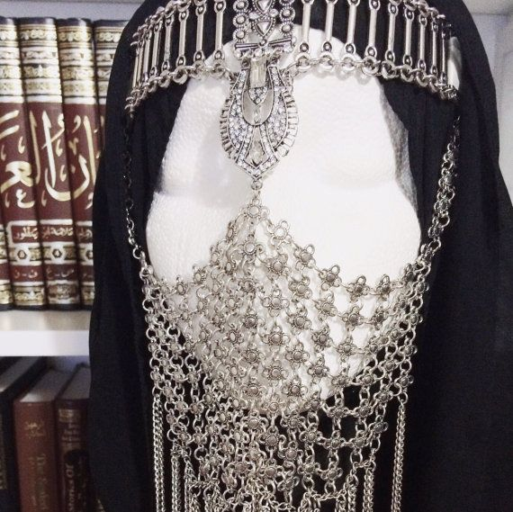 NOORASilver Face Veil by BoutiqueAlBadwi on Etsy