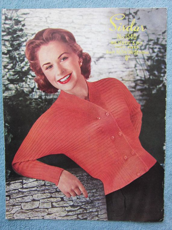 knitting patterns women's cardigan Not PDF  by thevintagemagpie01