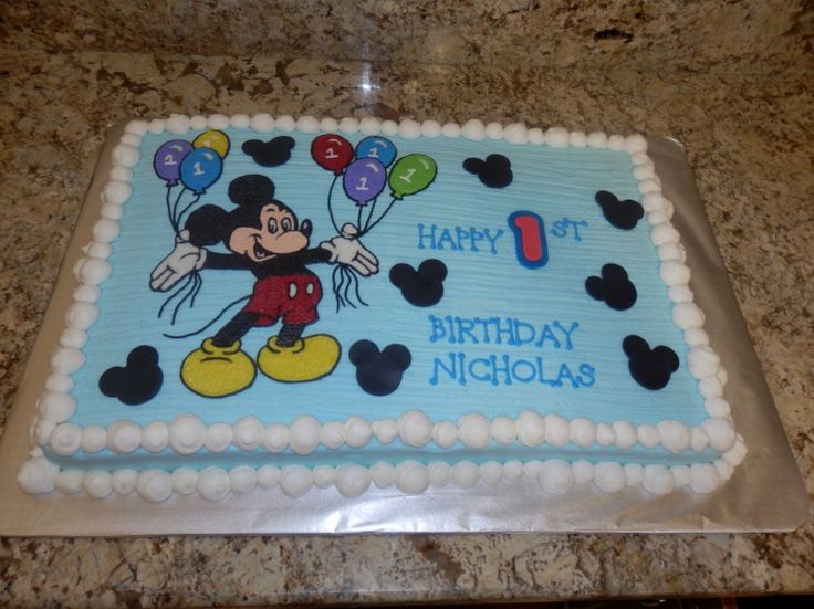 Mickey Mouse Cakes Mickey Mouse Full Sheet Cake Rileys