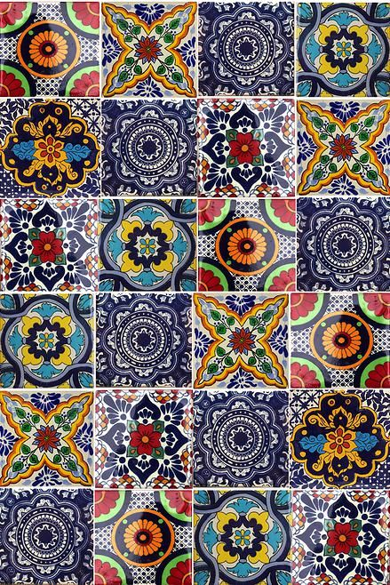 Talavera pool tile. Also found at http://www.lafuente.com/Tile/Talavera-Tile/
