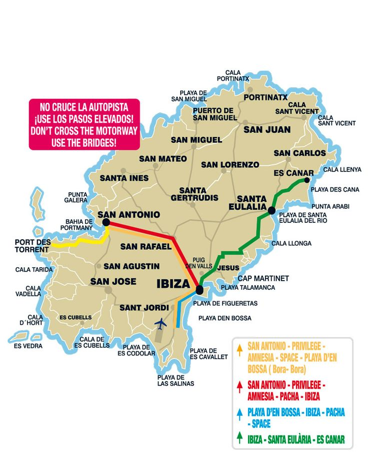 DISCO BUS MAP:  The disco bus usually starts at about midnight taking you to all the clubs and finishes most nights at 6am. They are a great way to meet new people and a lot of fun. It will cost you approx. €3 each way dropping you off right at all of the clubs. Find out more about the disco bus here: http://bit.ly/1GmERnz