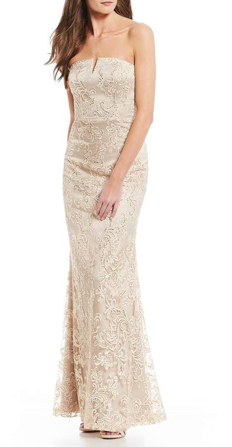 3f243172133 Vince Camuto Strapless Embroidered Lace Gown  dillards  ad