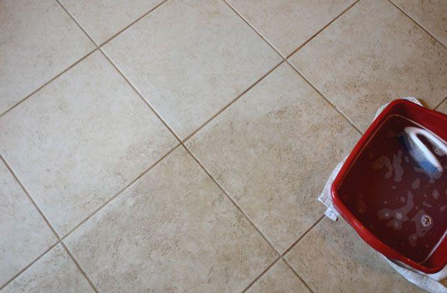 How to deep clean your tile floor.