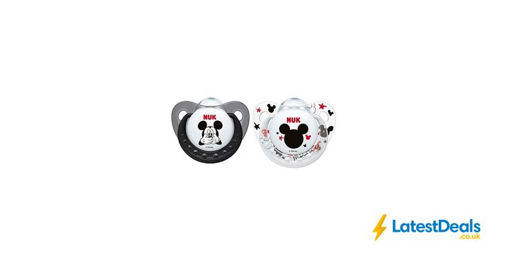 NUK Disney Mickey & Minnie Silicone Orthodontic Soother 2pk, £4.45 at Amazon UK
