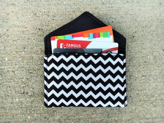 34 best business card cases business card holder gift card business card holder gift card holder black white chevron 100 cotton fabric reheart Image collections