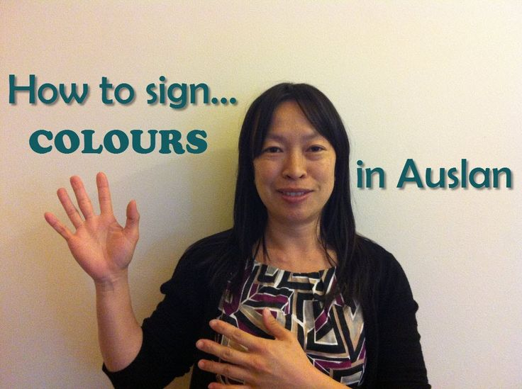 Colours and much more in Auslan