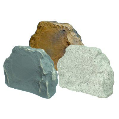 TIC TFS5 Terra Form Rock Speakers - Set of 2 White Granite - TFS-5-WG