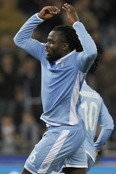 Jordan Lukaku of SS Lazio reacts during the Serie A match between SS Lazio and SSC Napoli at Stadio Olimpico on April 9, 2017 in Rome, Italy.