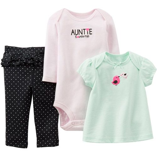 Child of Mine by Carter's Newborn Girl Cotton Outfit 3 ...