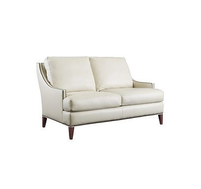 gardner loveseat from the henredon leather company collection by henredon furniture