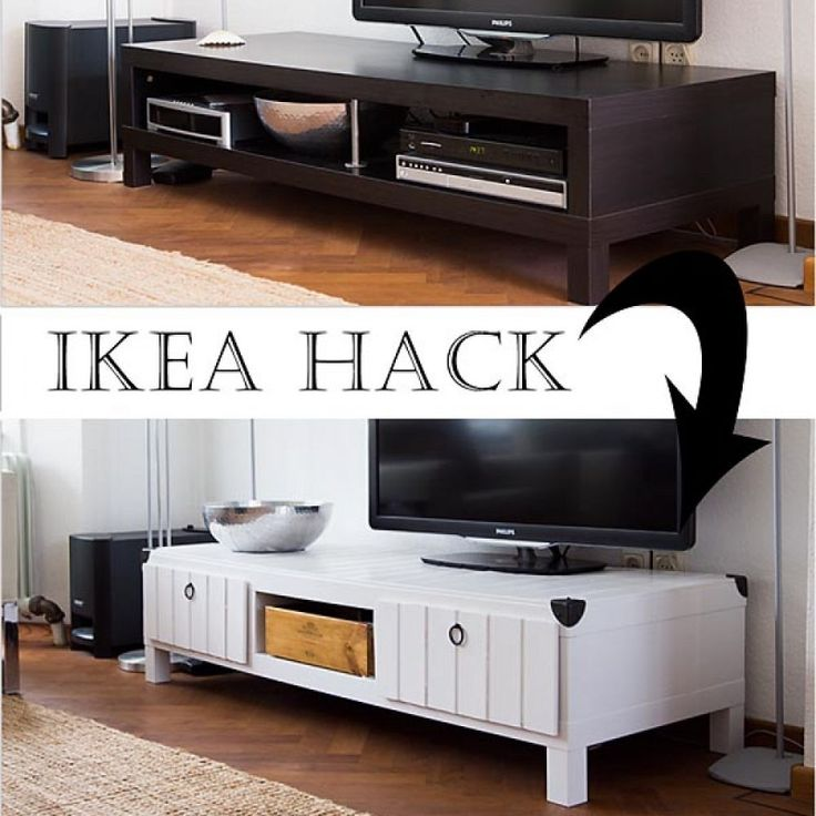Easy way to hack an IKEA coffee table, using hatches, dividers and paint.