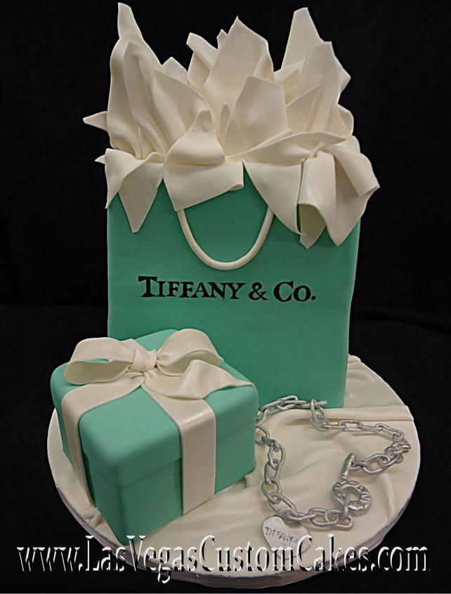 Tiffany Shopping Bag Cake pacco regalo